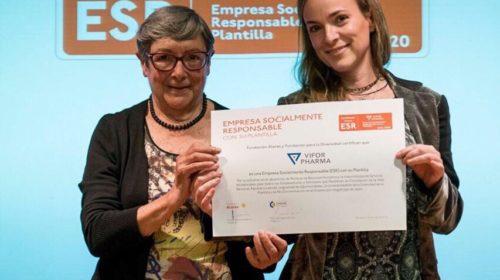 """Vifor Pharma recibe la certificación como """"Empresa Socialmente Responsable con su plantilla"""" por parte de la Fundación Alares y la Fundación para la Diversidad."""
